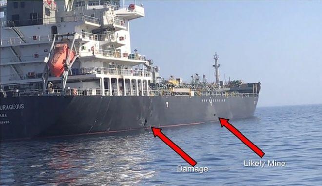 Κόλπος Ομάν, επίθεση σε δύο δεξαμενόπλοια