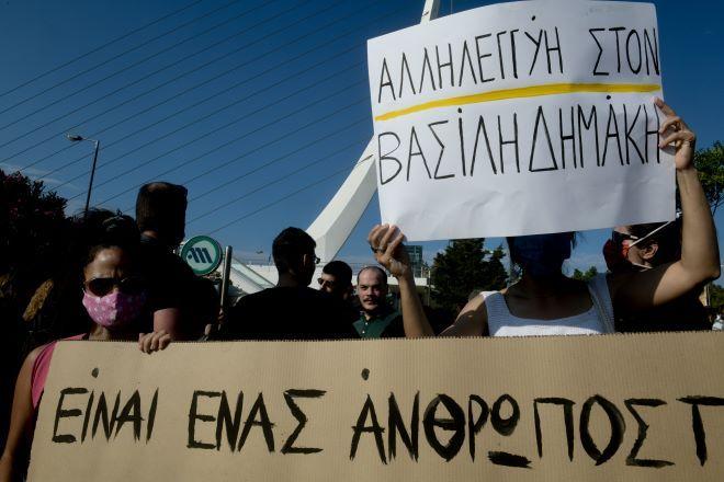 Από τις διαδηλώσεις συμπαράστασης στον Βασίλη Δημάκη