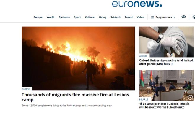 Η Λευκορωσία απαγόρευσε τη μετάδοση του Euronews
