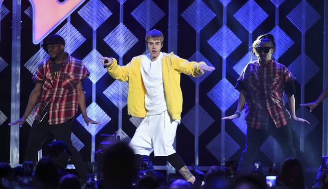 Ο Justin Bieber επί σκηνής