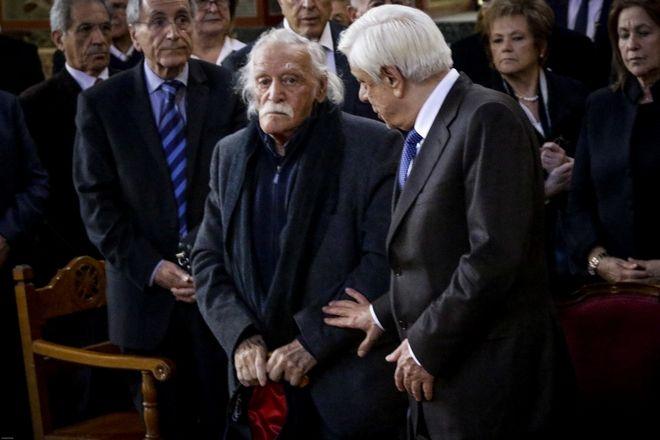 Κηδεία του δημοσιογράφου Χρήστου Πασαλάρη την τετάρτη 14 Μαρτίου 2018, στον Ιερό Ναό Παναγίτσας στο Παλαιό Φάληρο. (EUROKINISSI/ΓΙΑΝΝΗΣ ΠΑΝΑΓΟΠΟΥΛΟΣ)