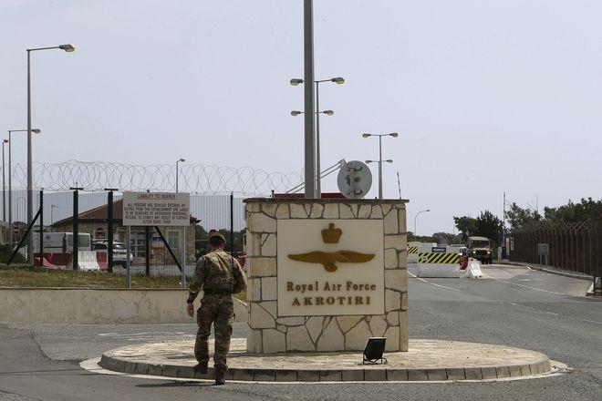 Η βρετανική βάση στο Ακρωτήρι της Κύπρου, κοντά στη Λεμεσό