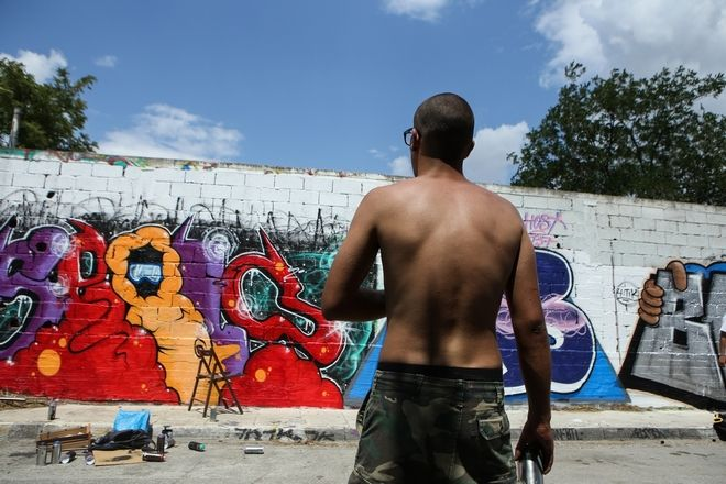 Old School Meeting Graffiti Festival, in Athens, May 27, 2018