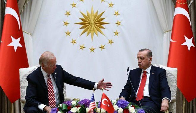 Τζο Μπάιντεν και Ταγίπ Ερντογάν σε παλαιότερη συνάντησή τους