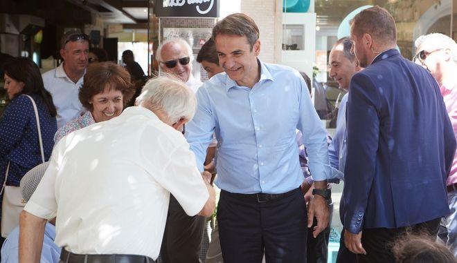 Φωτογραφία από την περιοδεία του προέδρου της ΝΔ, Κυριάκου Μητσοτάκη, στην Κρήτη