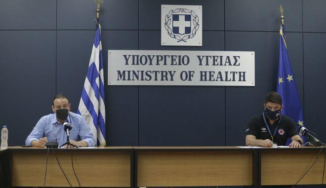 Ενημέρωση για την πορεία της επιδημίας κορονοϊού στην Ελλάδα από τον Γκίκα Μαγιορκίνη και το Νίκο Χαρδαλιά