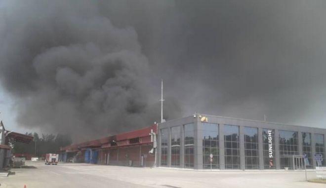 Η ανακοίνωση της Sunlight για την πυρκαγιά στο εργοστάσιο της Ξάνθης
