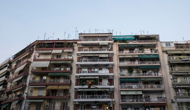 Apartment buildings in the center of Thessaloniki, Greece on October 9, 2015. /       9  2015.
