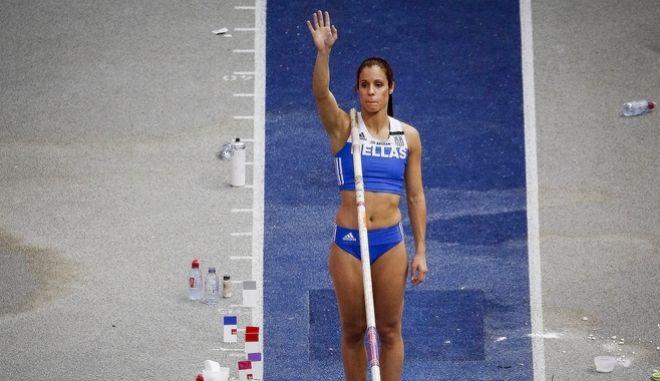 Η πρωταθλήτρια στο Άλμα επί Κοντώ, Κατερίνα Στεφανίδη