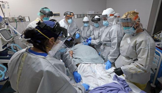 Εικόνα από νοσοκομείο στις ΗΠΑ σε καιρό κορονοϊού