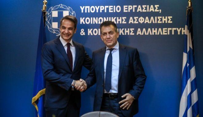 Επίσκεψη του Πρωθυπουργού Κυριάκου Μητσοτάκη στο υπουργείο Εργασίας την Τετάρτη 18 Σεπτεμβρίου 2019.