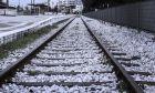 Σιδηροδρομικός σταθμός - Φωτογραφία αρχείου