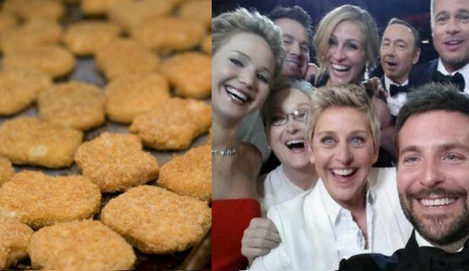 Οι κοτομπουκιές εκθρόνισαν την οσκαρική selfie στο Twitter