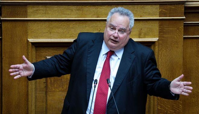 Ο Νίκος Κοτζιάς στη συζήτησης επί της προτάσεως του πρωθυπουργού για παροχή ψήφου εμπιστοσύνης στην κυβέρνηση