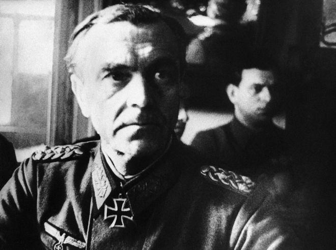 Germany's Field Marshal Friedrich Paulus at Red Army Headquarters for interrogation at Stalingrad, Russia, on March 1, 1943. (AP Photo)