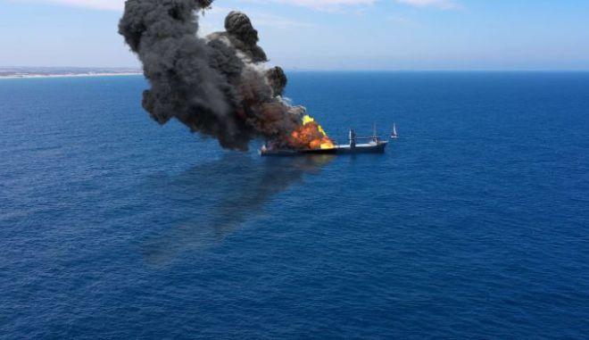 Έκρηξη σε πλοίο (φωτογραφία αρχείου)