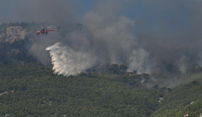 Πυροσβεστικές δυνάμεις επιχειρούν σε φωτιά - Φωτό αρχείου