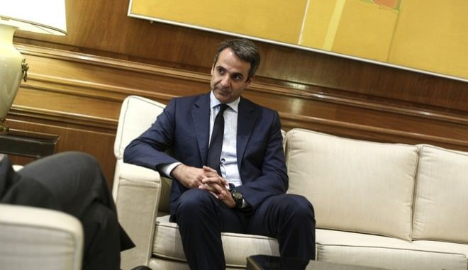 Meeting of Prime Minister Alexis Tsipras with the leader of the New Democracy Kyriakos Mitsotakis in the context of meetings with the political leaders, in Athens, on June  20, 2017. /                      , 20   2017.