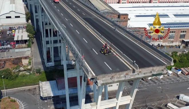 Τα στελέχη της Autostrade δεσμεύτηκαν για την ανοικοδόμηση της γέφυρας στη Γένοβα