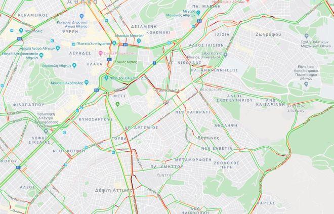 Κίνηση στους δρόμους: Άλλη μια μέρα ταλαιπωρίας - Δείτε LIVE χάρτη