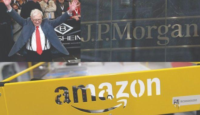 Συμμαχία 'γιγάντων' δημιουργούν Amazon, Berkshire Hathaway και JP Morgan