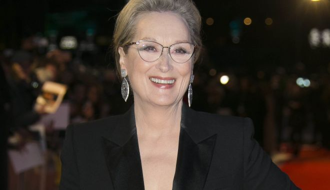 """FILE - In this Jan. 10, 2018 file photo, actress Meryl Streep poses for photographers at the premiere of """"The Post"""" in London. Streep will join the cast of HBO's """"Big Little Lies,"""" playing Mary Louise Wright, mother-in-law of Nicole Kidman's character Celeste Wright. (Photo by Joel C Ryan/Invision/AP, File)"""