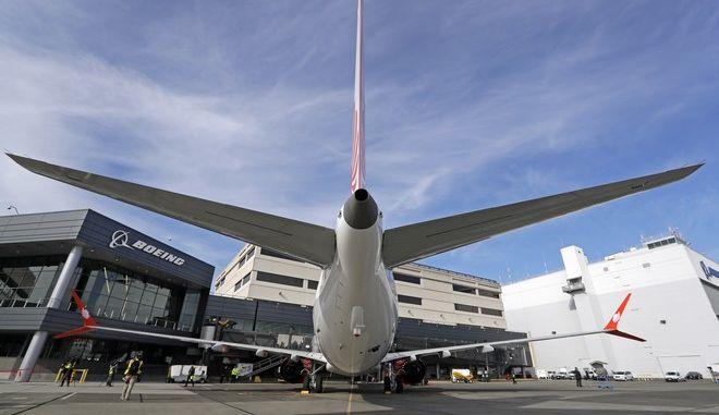 Αεροπλάνο Boeing 737 MAX 9 στις εγκαταστάσεις της εταιρίας στο Σιάτλ
