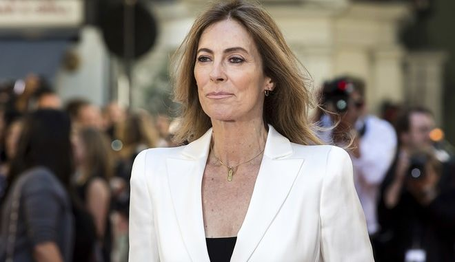 Director Kathryn Bigelow poses for photographers on arrival at the premiere of the film 'Detroit', in London, Wednesday, Aug.16, 2017 (Photo by Grant Pollard/Invision/AP)