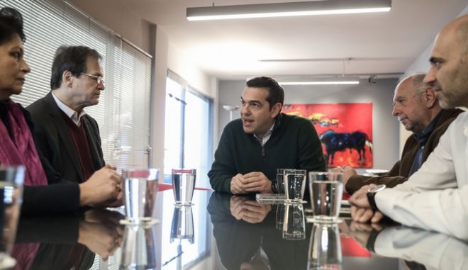 Συνάντηση του Προέδρου του ΣΥΡΙΖΑ, Αλέξη Τσιπρα με Αντιπροσωπεία του Εποπτικού Συμβουλίου της ΕΥΕΔ και του ΔΣ της ΕΔΕΜ