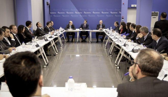Συνεδρίαση Τομεαρχών της Ν.Δ. υπό τον Πρόεδρο του Κόμματος κ. Κυριάκο Μητσοτάκη, 9/1/2018. (EUROKINISSI/ΠΑΝΑΓΟΠΟΥΛΟΣ ΓΙΑΝΝΗΣ)