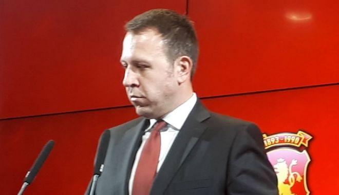 Ο γγ του κόμματος του VMRO, Ιγκόρ Γιαννούσεφ