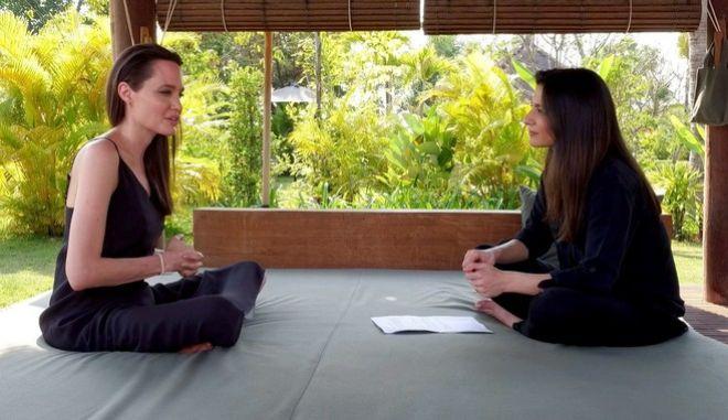 Angelina Jolie talks about divorce in a BBC interview 2/19/17 BBC World News