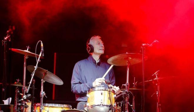 Ο Τσάρλι Γουότς σε περιοδεία των Rolling Stones το 2017 στο Αμβούργο
