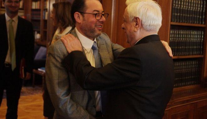 ΑΘΗΝΑ-Ο Πρόεδρος της Δημοκρατίας, Προκόπιος Παυλόπουλος δέχθηκε  τον Πρόεδρο της Ομάδας της Προοδευτικής Συμμαχίας Σοσιαλιστών και Δημοκρατών του Ευρωπαϊκού Κοινοβουλίου, Τζιάνι Πιτέλα.(Eurokinissi-ΚΟΝΤΑΡΙΝΗΣ ΓΙΩΡΓΟΣ)