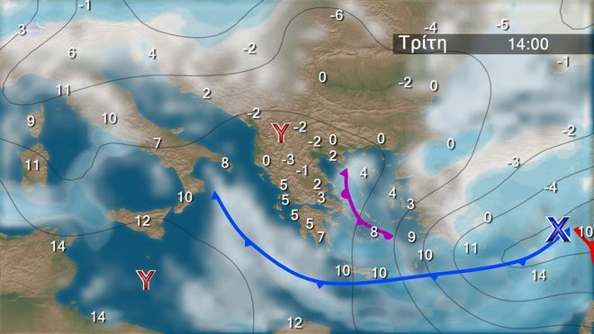 Ο καιρός στα Βαλκάνια την Τρίτη