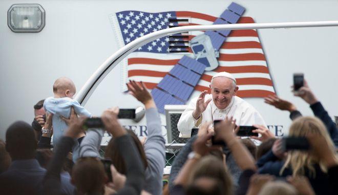 Ο Πάπας Φραγκίσκος στη Φιλαδέλφεια των ΗΠΑ