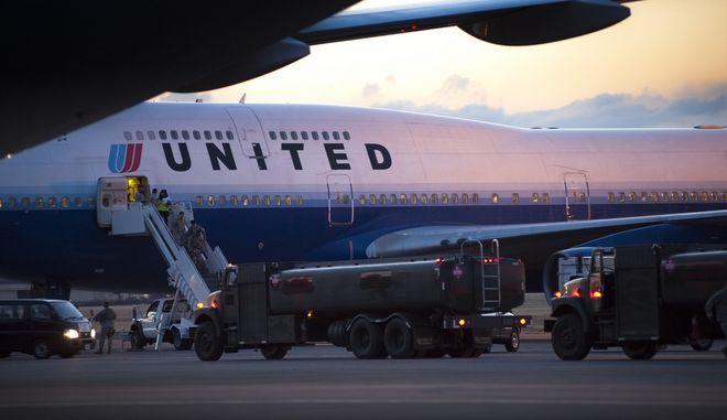 Εκτροπή πτήσης της United Airlines για λόγους ασφαλείας