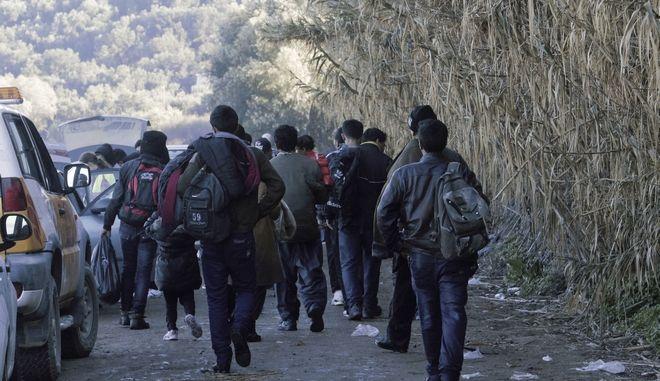 Πρόσφυγες στη Λέσβο. Φωτό αρχείου.