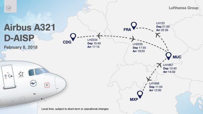 'Πασαρέλα' στους αιθέρες η Lufthansa με τη νέα της εμφάνιση