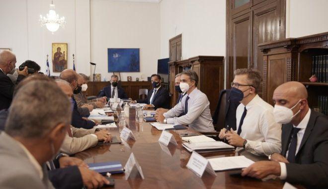 O πρωθυπουργός, Κυριάκος Μητσοτάκης, σε συνάντηση με φορείς στην Θεσσαλονίκη