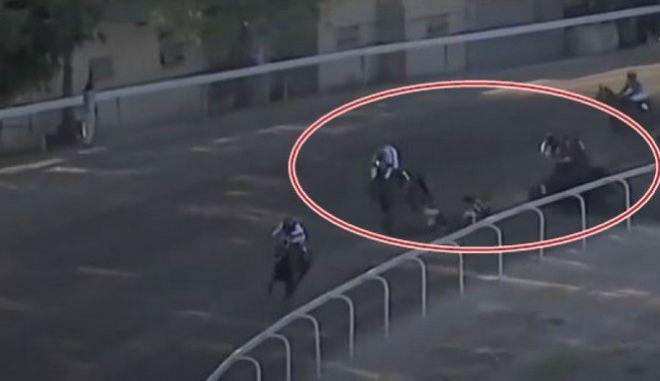 Στιγμιότυπο από το ατύχημα στον Ιππόδρομο
