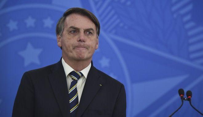 Ο πρόεδρος της Βραζιλίας, Ζαΐρ Μπολσονάρου. (AP Photo/Andre Borges)