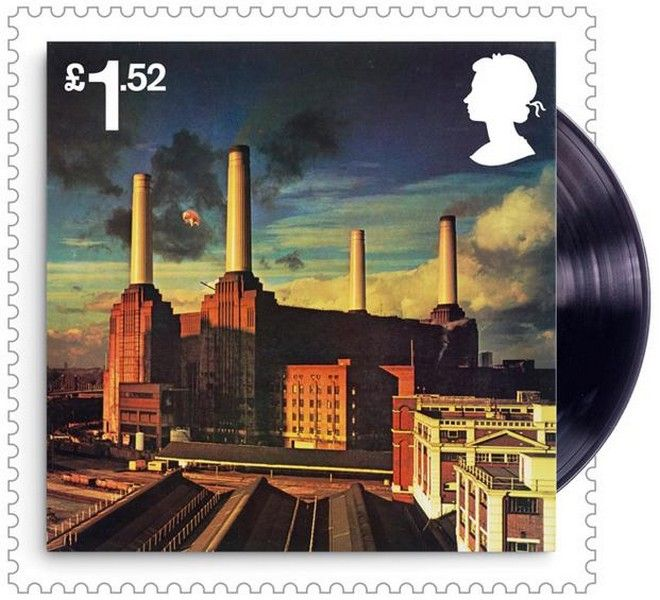 Undated handout photo issued by the Royal Mail of one of a set of ten stamps, featuring the album cover from Animals, that will be issued to mark fifty years since Pink Floyd turned professional and became the ëhouse bandí of the London Underground movement of music and arts. PRESS ASSOCIATION Photo. Issue date: Thursday May 26, 2016. See PA story CONSUMER Stamps. Photo credit should read: Royal Mail /PA Wire NOTE TO EDITORS: This handout photo may only be used in for editorial reporting purposes for the contemporaneous illustration of events, things or the people in the image or facts mentioned in the caption. Reuse of the picture may require further permission from the copyright holder.