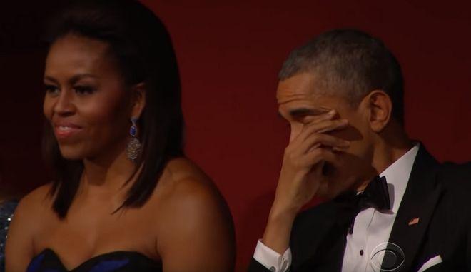 Συγκινημένος ο Μπαράκ Ομπάμα από την ερμηνεία της Aretha Franklin το 2015 στην Ουάσιγκτον