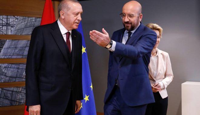 Αθεράπευτα προκλητικός ο Ερντογάν - Επικοινώνησε με Μισέλ και κατηγόρησε την Ελλάδα
