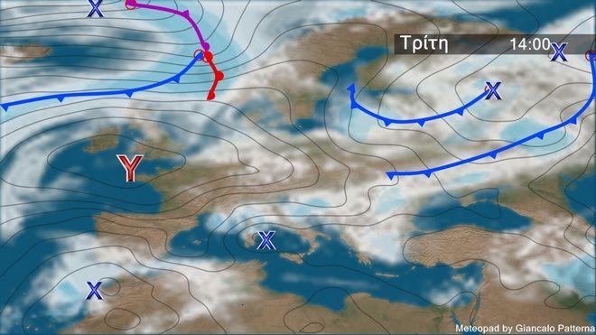 Καιρός: Συννεφιά την Τρίτη - Επιδείνωση τις επόμενες ημέρες με πτώση θερμοκρασίας
