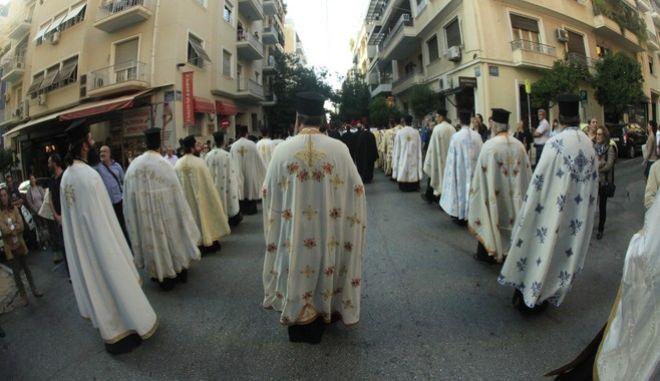 Λιτανεία εικόνας στην Αθήνα