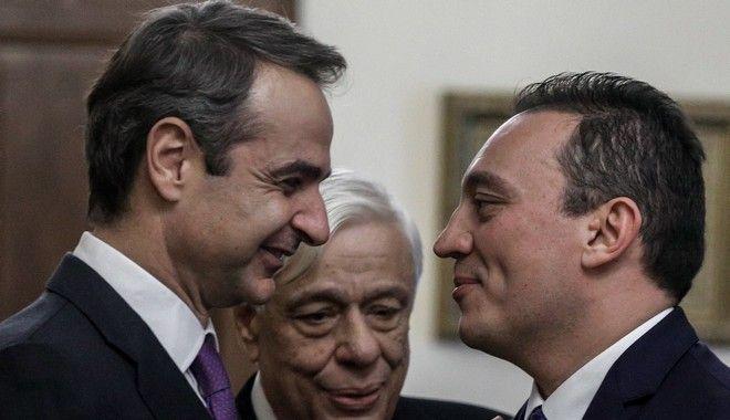 Ορκωμοσία του νέου υφυπουργού Εξωτερικών Κωνσταντίνου Βλάσση την Δευτέρα 9 Δεκεμβρίου 2019, στο Προεδρικό Μέγαρο.