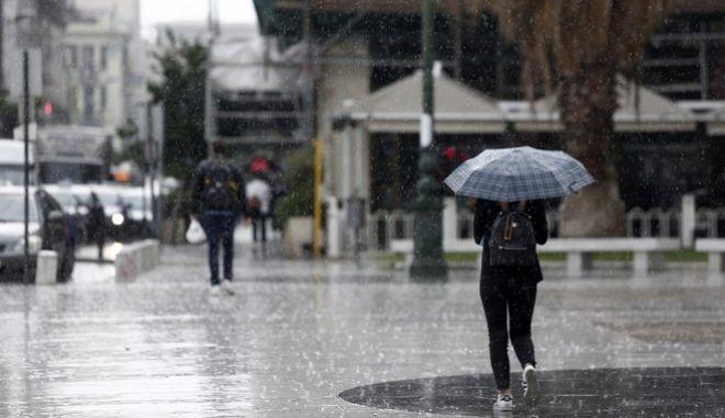 Βροχερή ημέρα στη Θεσσαλονίκη