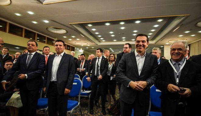 Ομιλίες του  Πρωθυπουργού, Αλέξη Τσίπρα και του Πρωθυπουργού της Βόρειας Μακεδονίας, Ζόραν Ζάεφ